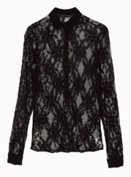 Zara shirt with silk lace neckline - Fashion Buy of the Day - Marie Clarie - Marie Claire UK