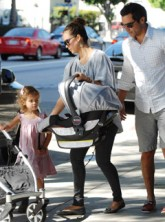 Jessica Alba and baby daughter Haven
