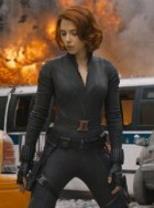 The Avengers - The Avengers Movie Photos - The Avengers Movie - The Avengers On-set pictures - Scarlett Johansson - Chris Evans - Robert Downey Jr. - Marie Claire - Marie Claire UK