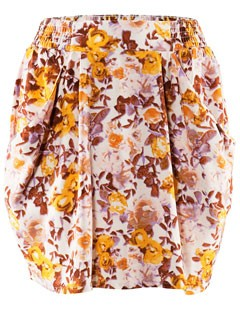 H&M floral print skirt - fashion - shopping - style - highstreet - high street