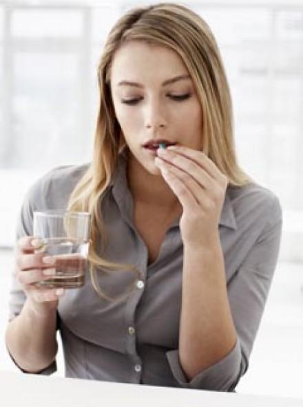 Woman Taking Vitamin (LP)