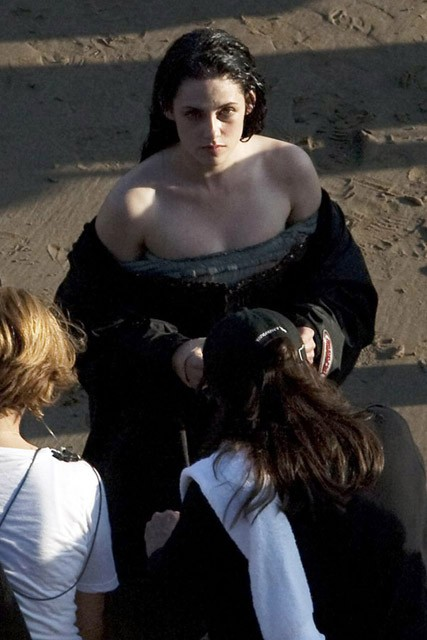 Kristen Stewart on set of Snow White