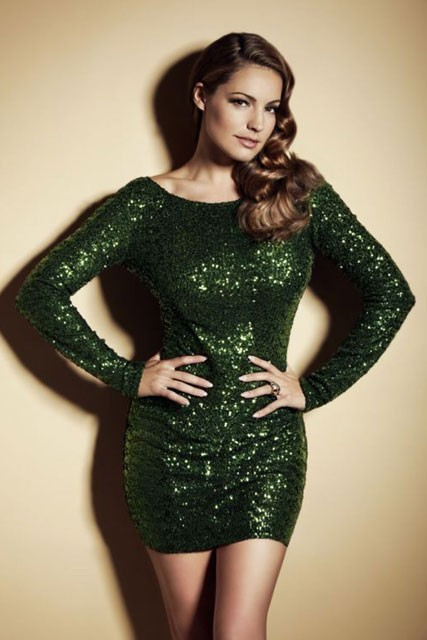 kelly brook - new look - party season - party dresses collection