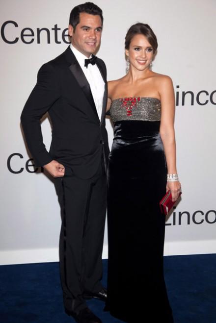 Jessica Alba and Cash Warren at An Evening with Ralph Lauren hosted by Oprah Winfrey