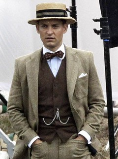 Tobey Maguire - The Great Gatsby On-Set Pictures - The Great Gatsby Pictures - The Great Gatsby Filming - The Great Gatsby Movie - Tobey Maquire - Marie Claire - Marie Claire UK