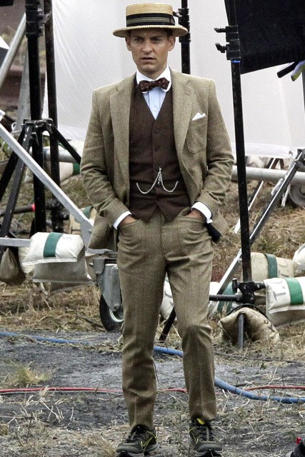 Tobey Maguire- The Great Gatsby On-Set Pictures - The Great Gatsby Pictures - The Great Gatsby Filming - The Great Gatsby Movie - Tobey Maquire - Marie Claire - Marie Claire UK