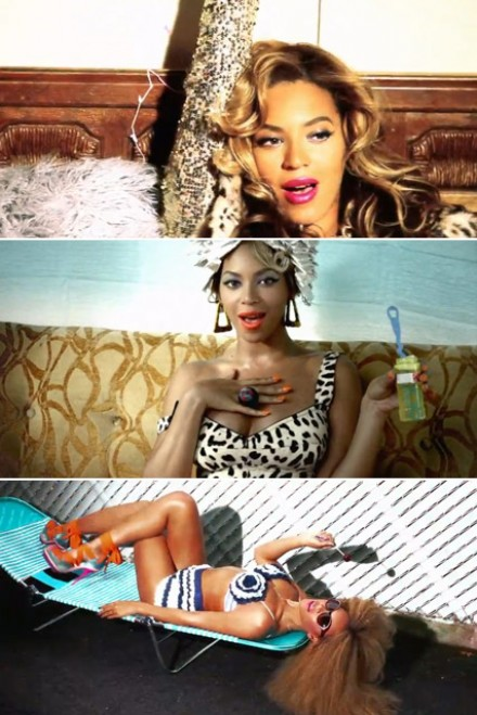 Beyonce in her new video 'Party'