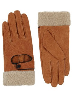 Warehouse shearling trim gloves