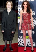 Kristen Stewart - Twilight Stars: Then and Now - Twilight - Twilight Breaking Dawn - Breaking Dawn - Premiere - Robert Pattinson - Kristen Stewart - Taylor Lautner - Marie Claire - Marie Claire UK