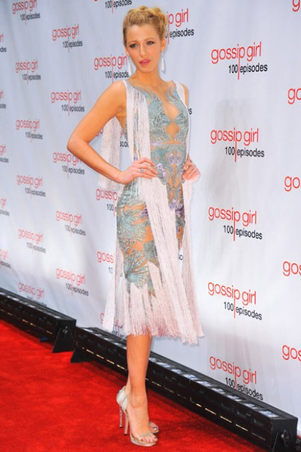Blake Lively - Gossip Girls dazzle at 100th episode party - Gossip Girl - Gossip Girl season 5 - Marie Claire - Marie Claire UK