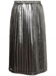 Topshop metallic pleated skirt - fashion - partywear - party fashion