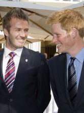David Beckham and Prince Harry