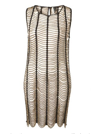 Topshop knitted gold beaded dress, £110 - Christmas party dresses - Party dresses - Marie Claire - Marie Clarie UK