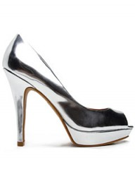 Mango metallic peep-toe heels - party - fashion -partywear - accessories