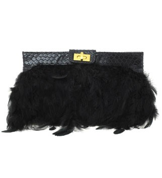 ASOS feathered clutch, £25