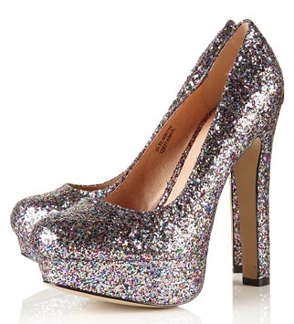 Topshop glitter platforms, £62