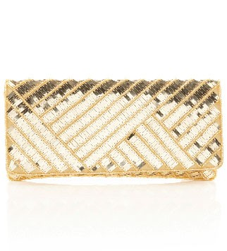 Warehouse metallic clutch, £15