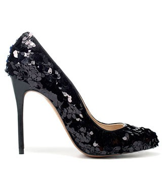 Zara sequinned courts, £59.99