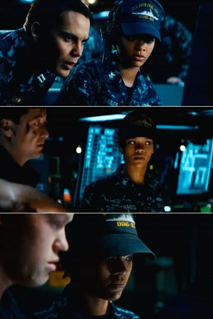 Rihanna - WATCH: Rihanna makes movie debut in new Battleship trailer - Rihanna Battleship - Marie Claire - Marie Claire UK