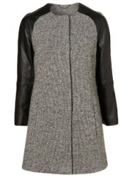 Topshop leather and tweed coat - winter coats - fashion - buy of the day