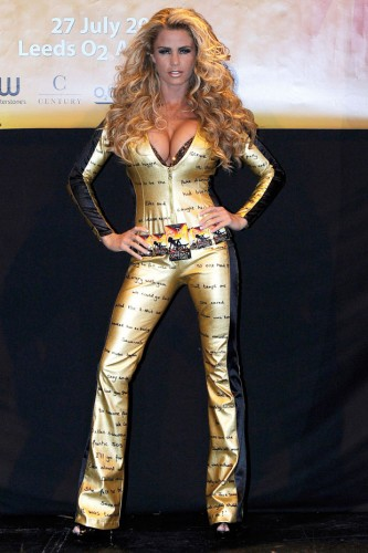 Katie Price at the Guinness World Record book signing attempt