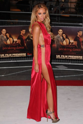 Lauren Pope at the London premiere of The Twilight Saga Breaking Dawn