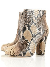 Topshop snake print ankle boots - fashion - buy of the day