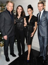 Gordon Ramsay with David and Victoria Beckham