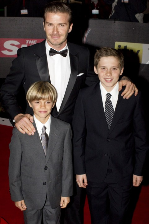 David, Brooklyn & Romeo Beckham - The Sun's Military Awards 2011 - Military Awards - Duke and Duchess of Cambridge - Duchess of Cambridge - Prince William - Kate Middleton - Marie Claire - Marie Claire UK