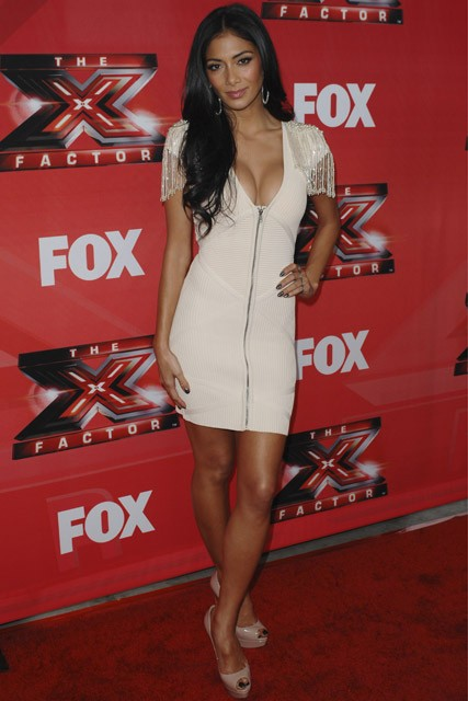 Nicole Scherzinger and Simon Cowell at 'The X Factor' press conference, Los Angeles