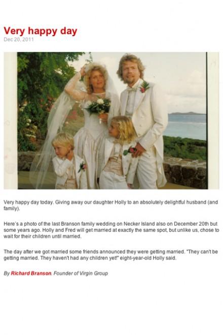 Holly and Richard Branson, Richard Branson, Holly Branson, Necker Island, Richard Branson blog, Richard Branson Virgin, Richard Branson family, Holly Branson married, Holly Branson wedding,