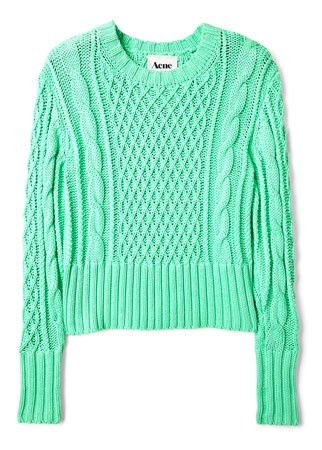 Acne cable knit jumper, £220 - new season - fashion - shopping - key items