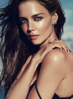 Katie Holmes strips down for sexy jewellery campaign ...