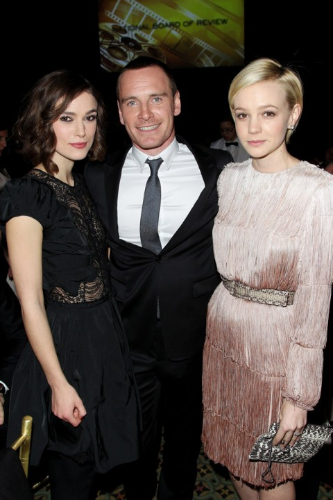 Keira Knightley, Michael Fassbender & Carey Mulligan - National Board of Review Awards Gala - National Board of Review Awards - 2012 - Marie Claire - Marie Claire UK