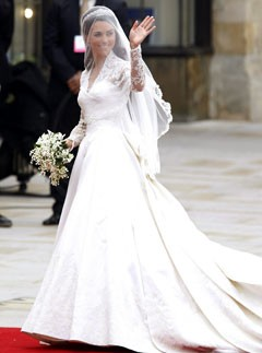 The Duchess of Cambridge at the royal wedding