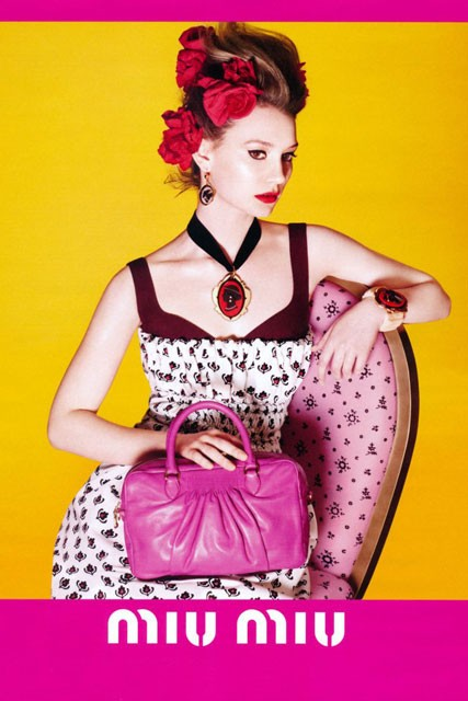 Mia Wasikowska is the face of Miu Miu spring/summer 2012