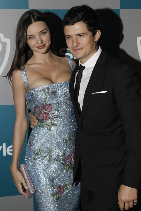 Miranda Kerr and Orlando Bloom at The Instyle Golden Globes after party