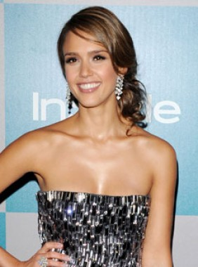 Jessica Alba at the Warner Bros Golden Globes 2012 after-party
