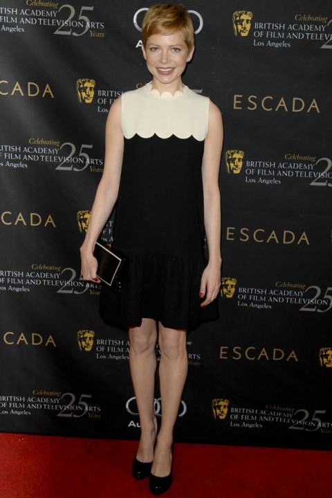 Michelle Williams at the BAFTA Awards Season Tea Party 2012 in Los Angeles