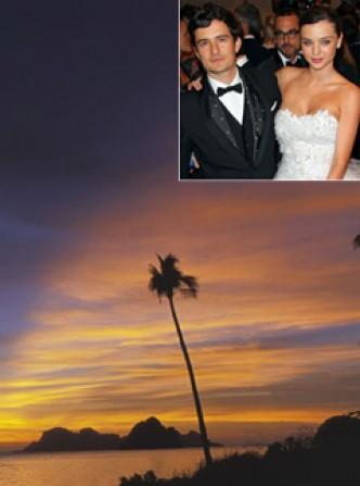 Miranda Kerr & Orlando Bloom - Celebrity Honeymoon destinations - Honeymoon Destinations - Marie Claire - Marie Claire UK
