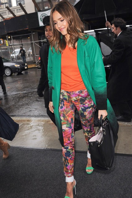 Jessica Alba - Love or hate? Jessica Alba?s eye-catching ensemble? - Marie Claire - Marie CLaire UK
