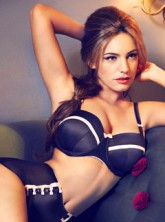 Kelly Brook for New Look lingerie campaign