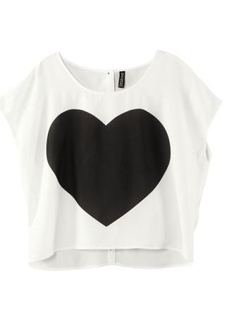 H&M heart print T-shirt, £9.99
