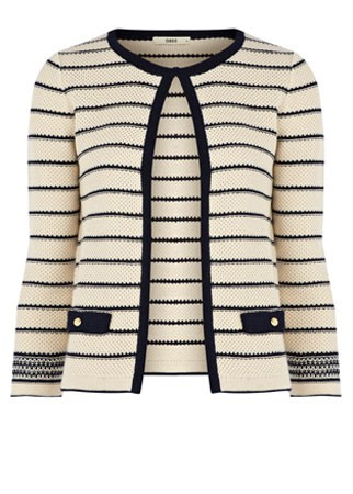 Oasis striped cardigan, £45