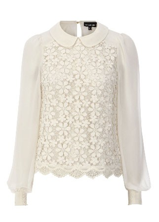 Warehouse Peter Pan collar top, £48