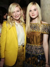 Kirsten Dunst and Elle Fanning at Rodarte's LA dinner