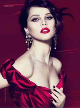 Felicity Jones for Dolce & Gabbana beauty