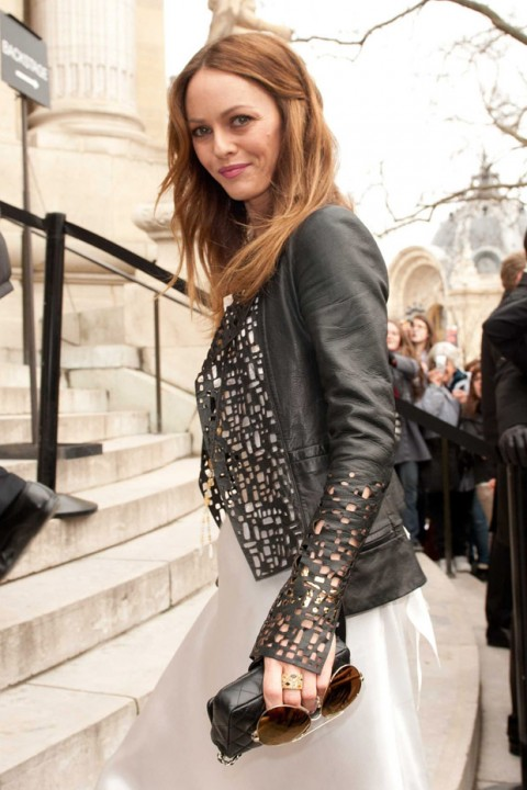 Vanessa Paradis at the Chanel Haute Couture Fashion Show in Paris
