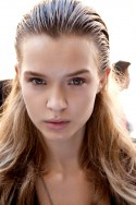 Catwalk Hairstyles Giambattista Valli Wet Look Hair