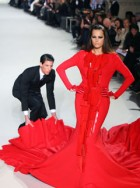 Yasmin Le Bon walks for Stephane Rolland